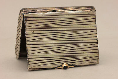 Antique Original Perfect Silver Gold Decorated Amazing Russian Cigarette Case
