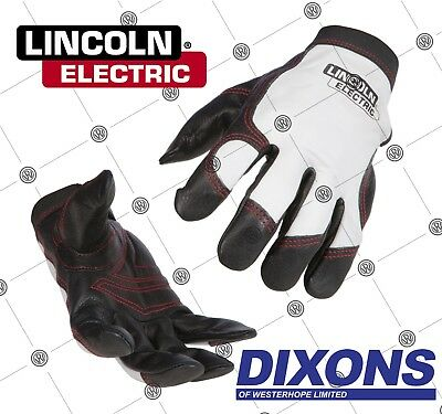 Lincoln Electric Full Leather Steel Worker Gloves MIG TIG MMA Welding Welder