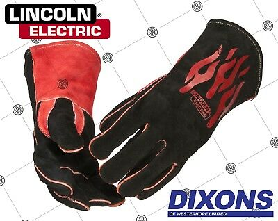 Lincoln Electric Traditional MIG / STICK MMA Welding Gloves Gauntlets Heavy Duty