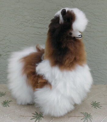 New Handmade By Our Artisan In Peru 11 - 12 inches Standing Plush Alpaca #2156