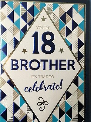 Brother 18th Birthday Card 335 Picclick Uk
