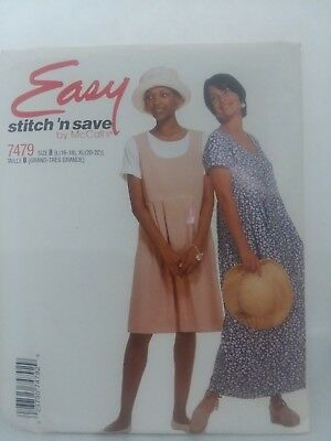 Mccall's Easy Stitch 'n save 7479 women dress pattern size B
