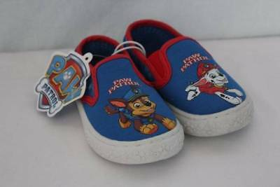 NEW Toddler Boys Loafers Size 9 Paw Patrol Marshall Chase Slip On Canvas Shoes