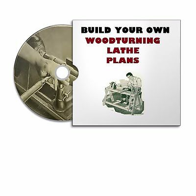 Wooden Treadle Lathe Build Woodworking  Diy Plans +  Wood Turning  Course Books