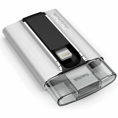 SanDisk iXpand Flash Drive 64GB - iPhone, iPad (SDIX-064G-A57) - VG - In Box
