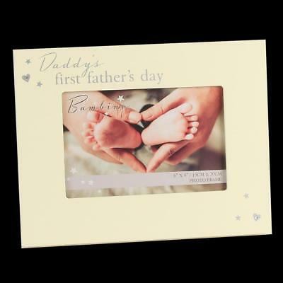"""Bambino Unisex 6"""" x 4"""" Photo Frame – Daddy's first Father's Day"""