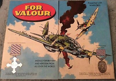 1979 Warlord Comics Free Gift Issue #232 'For Valour' 24 Medal Card Completed