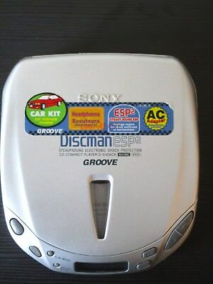 Sony D-E406CK ESP2 Groove Discman TESTED and Works....BUT.....
