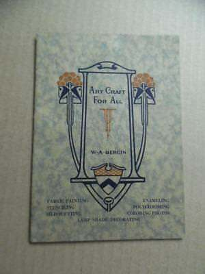 1928 Commercial Stationery Co. Art Craft For All Instruction Manual Vintage VG