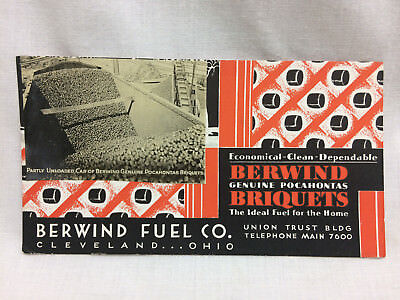 Vintage Berwind Fuel Co Advertising Ink Blotter Coal Real Photo Cleveland Ohio