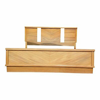 Vintage 1950's Mid Century Modern Art Deco style Double Full Bed Frame