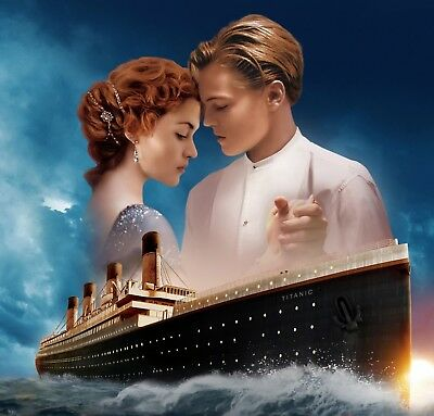 Titanic Movie - Classic Romance Film Ship Of Dreams Wall Art Canvas Pictures