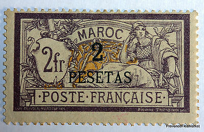 """MOROCCO STAMP STAMP Yt17 MERSON 2PESETAS ON 2F PURPLE AND YELLOW"""" NEW 426a16"""