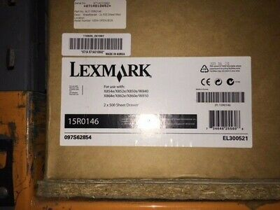 Lexmark 15R0146 2x500 Sheet Drawer for W850dn and X860de Series EL300521 New