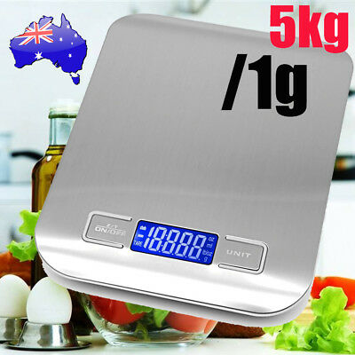 Digital Electronic Kitchen Scales Nutrition Food Scale Weight 5kg Free Post AU