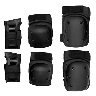 Set 6 Elbow Knee Wrist Brace Pads Protective Safety Gear Guard for Multi Sports
