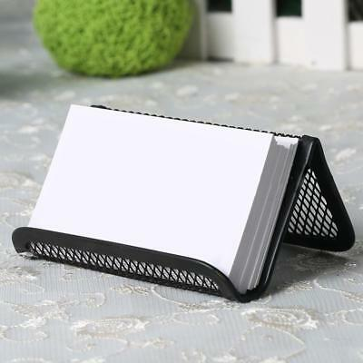 Business Office Card Holder Steel Mesh Home Desktop Collection Desk Holder Black