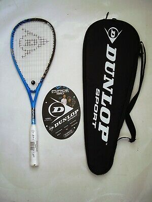 New! Dunlop Force Evolution 120 Squash Racquet & Full Cover