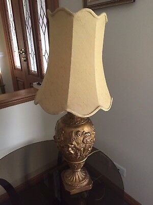 Vintage Table Lamp (Large) Beautifully Embossed