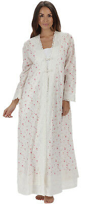 "100% Cotton Dressing Gown / Housecoat - Rosalind ""VR"" - Sizes S- 4XL"