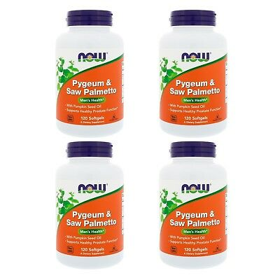 4X Now Foods Pygeum Saw Palmetto Men Health Supports Healthy Prostate Function