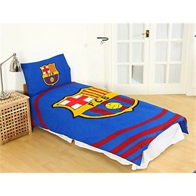 Official Barcelona Fc 'pulse' Single Duvet Cover And Pillowcase Set - Football
