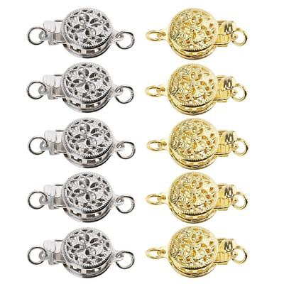 5Pcs Gold Buckle Bracelet Necklace Jewelry Clasp Connector for Jewelry Craft