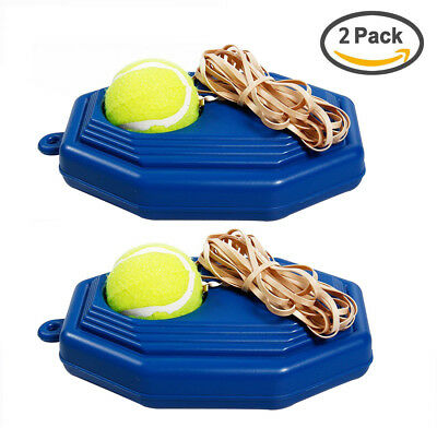 Single Tennis Training Tool Trainer Practice Ball Self-study Rebound Base+Tennis