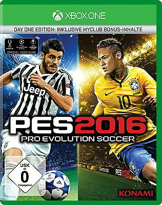 8x PES 2016 - Pro Evolution Soccer 2016 - Day One Edition,XBOX ONE  NEU/OVP