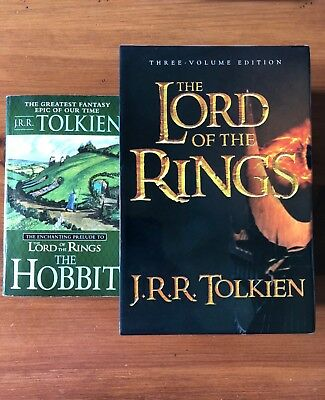 "The Lord of the Rings by J.R.R. Tolkien(2003w/slip case)3vol.(bonus""The Hobbit"")"