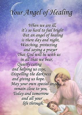 Angel of Healing Verse Poem Card - Free Delivery