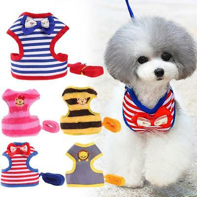 Pet Dog Cat Soft Vest Harness Breathable Buckle Leash Lead Walking Leashes Rope