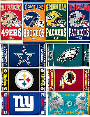 "NFL Licensed Team Logo 30"" x 60"" Cotton Beach Pool Dorm Towel Free Shipping!"