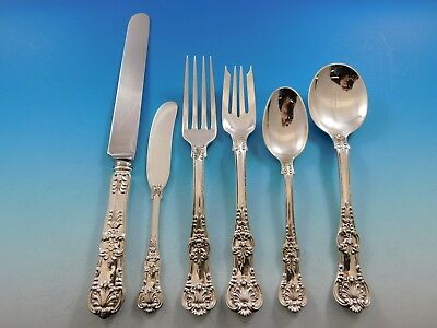 English King by Tiffany and Co. Sterling Silver Flatware Set for 8 Service 51 Pc