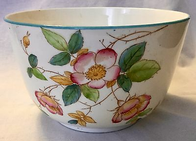 ANTIQUE 19th Century PEARLWARE  WASTE BOWL  * RARE * FREE SHIPPING