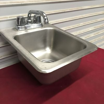 """13"""" Drop In Hand Wash Sink with Faucet Eagle/Metro #6463 Commercial Clean NSF"""