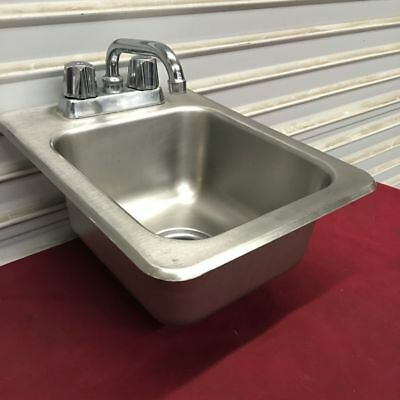 "13"" Drop in Hand Wash Sink with Faucet Eagle/Metro #6463 Commercial Clean NSF"