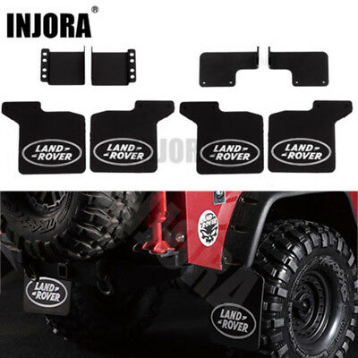 Front Rear Mud Rubber Fender w/ Logo for 1/10 RC Crawler Traxxas TRX4 Land Rover