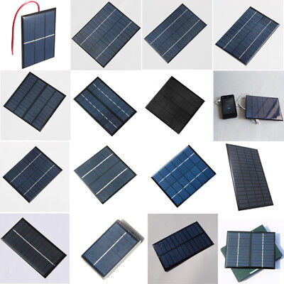 DIY 1.5/4/5/5.5/6/9/12/18V Solar Panel Module Cell Battery Charger Box