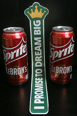 2Lot 2015 Lebron James Sprite Lebrons Mix 16oz cans Limited Edition NEW Unopened