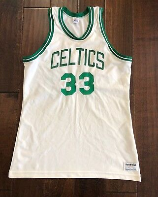 brand new 71854 47db8 Vintage Sandknit Boston Celtics Larry Bird Basketball Jerseys Mens Large