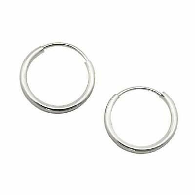 9b0de5036 14K YELLOW, WHITE or Rose Gold 1mm Endless Hoop Earrings, 10mm (3/8 ...