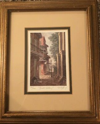 """McCaffery """"Pirates Alley"""" Signed by James Print 75/2000 Limited Edition 1999"""
