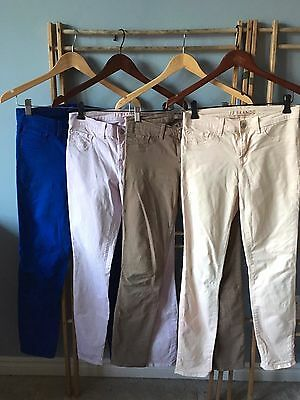 LOT of FOUR Aritzia J BRAND 811 Cotton Twill Colored Skinny Jeans, Size 26