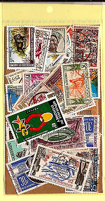 DAHOMEY Pocket 45 stamps various obliterated,ALL DIFFERENT good condition K45/1