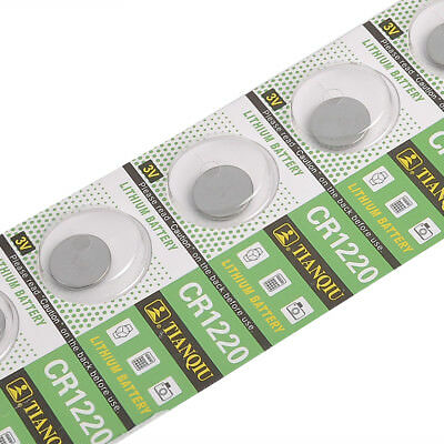 Newest 5PCS CR1220 1220 3V Coin Button Batteries Cell Battery - Watch Toy Remote