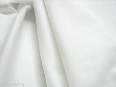 Pure Egyptian  Soft  Bright White Cotton Lawn Fabric  P/Mtr Minimum 3Mtrs