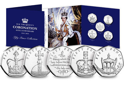 The Sapphire Coronation Fifty Pence Coin Set - 50p Collection [Ref: PG2 - 655P]