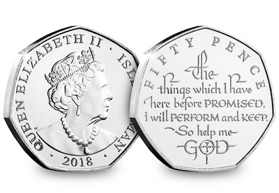 The Coronation Oath Fifty Pence Coin - 2018 50p New Release  [Ref: PG2]