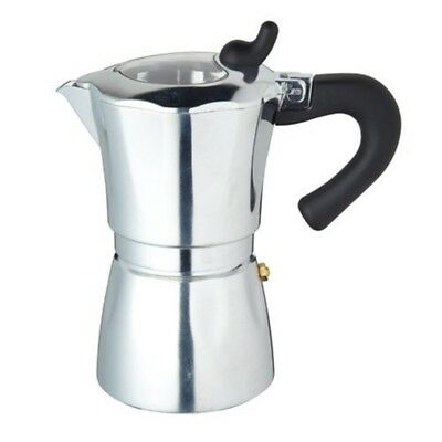 Kitchen Craft Italian Collection Espresso Coffee Maker Six Cup With Clear Lid,